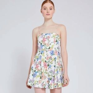 Alice+Olivia Trixie Floral Print Mini Dress